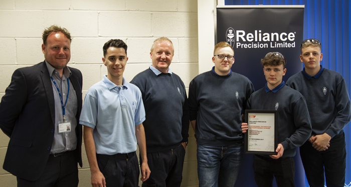 Reliance Apprenticeship Accreditation from the IMechE