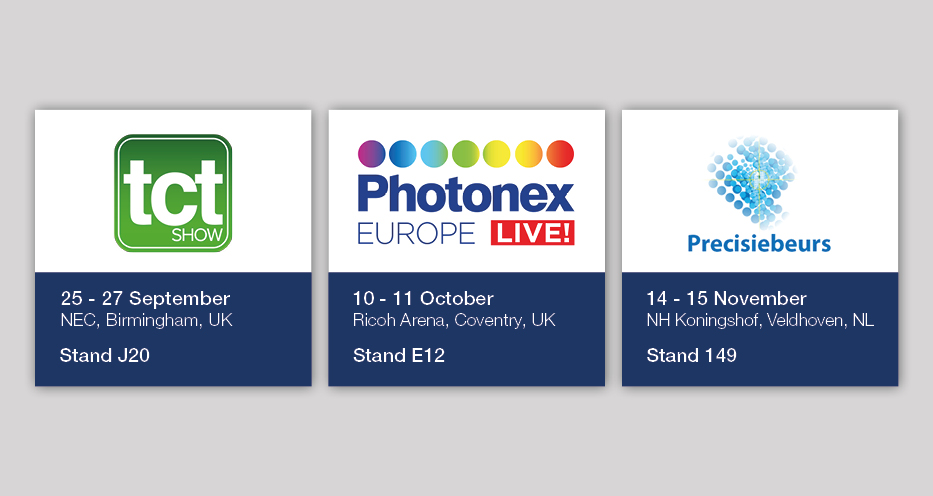 Reliance to Exhibit at TCT Show, Photonex Europe and Precisiebeurs